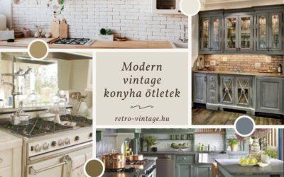Modern vintage konyha berendezés ötletek: konyhabútorok, kiegészítők